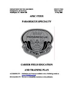AFSC 1T2XX PARARESCUE SPECIALTY