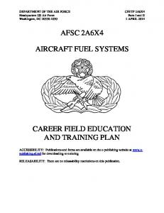 AFSC 2A6X4 AIRCRAFT FUEL SYSTEMS