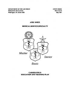 AFSC 4N0XX MEDICAL SERVICE SPECIALTY