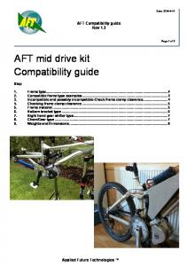 AFT mid drive kit Compatibility guide
