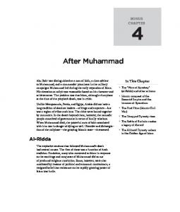After Muhammad. Al-Ridda BONUS CHAPTER. In This Chapter