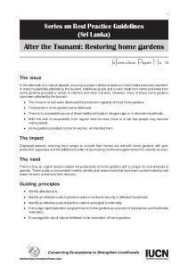 After the Tsunami: Restoring home gardens