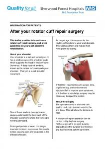 After your rotator cuff repair surgery
