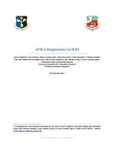 AFWA Diagnostics in WRF