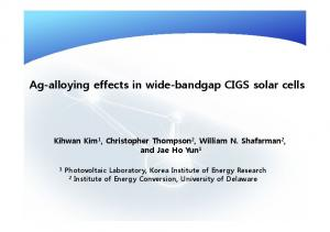 Ag-alloying effects in wide-bandgap CIGS solar cells