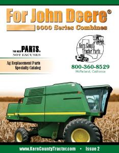 Ag Replacement Parts Specialty Catalog McFarland, California