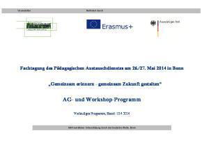AG- und Workshop-Programm