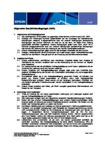 AGB. Allgemeine Geschäftsbedingungen (AGB)