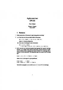 Agda exercises OPLSS