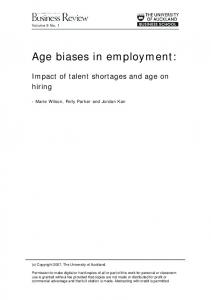 Age biases in employment: