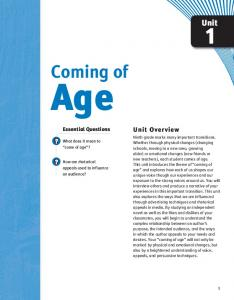 Age. Coming of. Unit. Unit Overview. Essential Questions