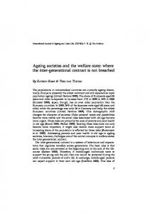 Ageing societies and the welfare state: where the inter-generational contract is not breached
