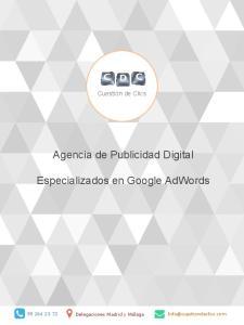 Agencia de Publicidad Digital. Especializados en Google AdWords