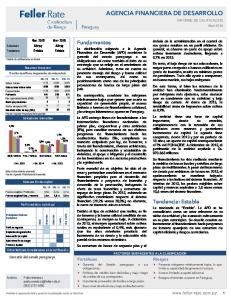 AGENCIA FINANCIERA DE DESARROLLO INFORME DE CALIFICACION Abril 2016