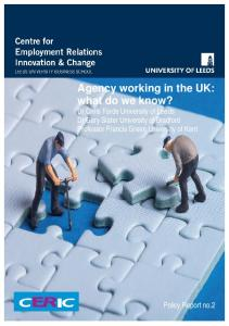 Agency working in the UK: what do we know?