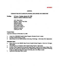 AGENDA COMMITTEE ON CAMPUS PLANNING, BUILDINGS AND GROUNDS