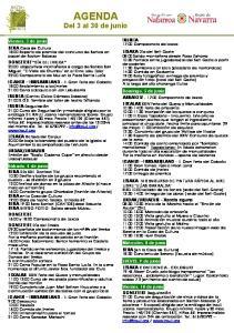 AGENDA. Del 3 al 30 de junio IRURITA