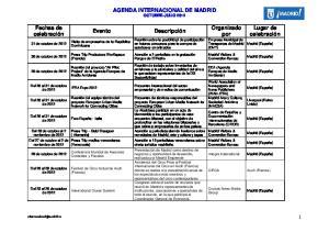 AGENDA INTERNACIONAL DE MADRID OCTUBRE-JULIO 2012