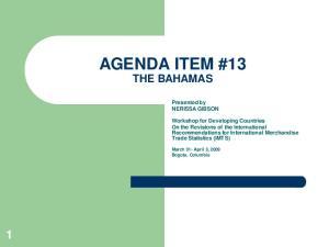 AGENDA ITEM #13 THE BAHAMAS