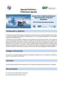 Agenda Preliminar - Preliminary Agenda