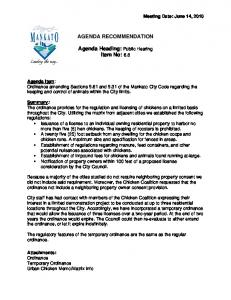 AGENDA RECOMMENDATION. Agenda Heading: Public Hearing Item No: 6.8