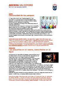 AGENDA VALDEMORO Del 7 al 14 de noviembre de 2014