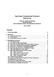 Agent-based Computational Economics Reading List