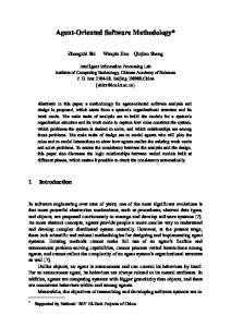 Agent-Oriented Software Methodology*