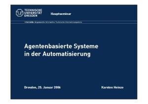 Agentenbasierte Systeme in der Automatisierung