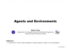 Agents and Environments