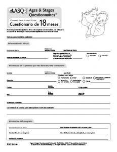 Ages & Stages Questionnaires