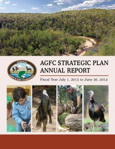 AGFC STRATEGIC PLAN ANNUAL REPORT