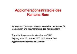 Agglomerationsstrategie des Kantons Bern