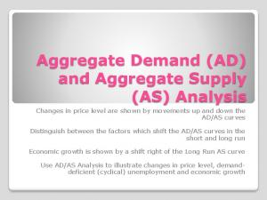 Aggregate Demand (AD) and Aggregate Supply (AS) Analysis