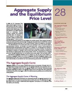Aggregate Supply and the Equilibrium Price Level