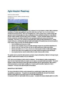 Agile Adoption Roadmap