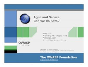 Agile and Secure Can we do both?
