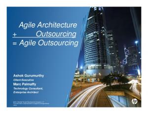 Agile Architecture + Outsourcing = Agile Outsourcing