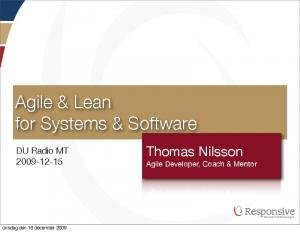Agile & Lean for Systems & Software