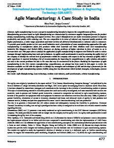 Agile Manufacturing: A Case Study in India