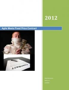 Agile Meets Fixed Price Contract