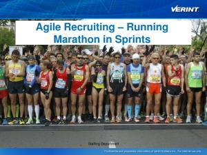 Agile Recruiting Running Marathon in Sprints. Staffing Department