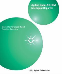 Agilent OpenLAB ECM Intelligent Reporter