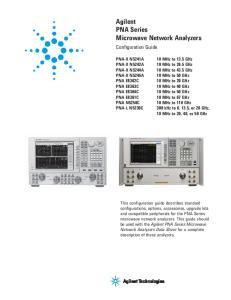Agilent PNA Series Microwave Network Analyzers