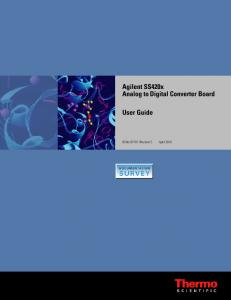 Agilent SS420x Analog to Digital Converter Board User Guide