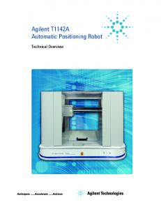 Agilent T1142A Automatic Positioning Robot. Technical Overview