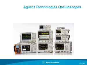 Agilent Technologies Oscilloscopes