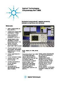Agilent Technologies Oscyloskopy Serii 3000