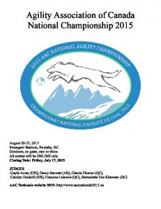 Agility Association of Canada National Championship 2015