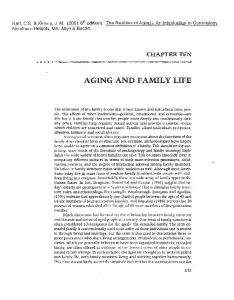 AGING AND FAMILY LIFE